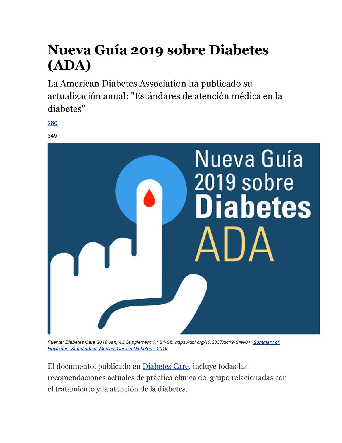 pautas de diabetes ada 2020 toxicidad por aspirina