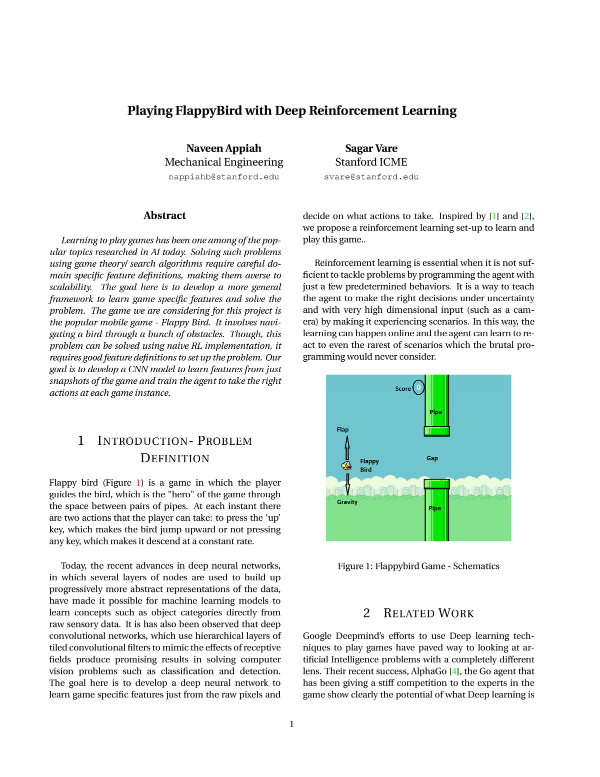 Tutorial work - Project - Playing flappybird with deep reinforcement