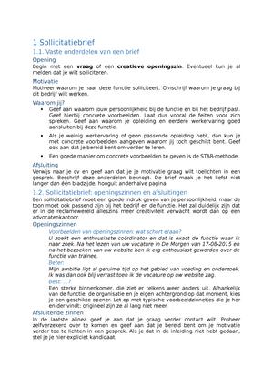 motivatiebrief coordinator Samenvatting   Sollicitatiebrief tips   Nederlands motivatiebrief coordinator