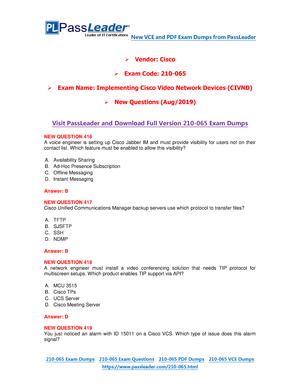 New-CCNA-CIVND-210-065-Exam-Dumps-VCE-PDF-Braindumps-Exam