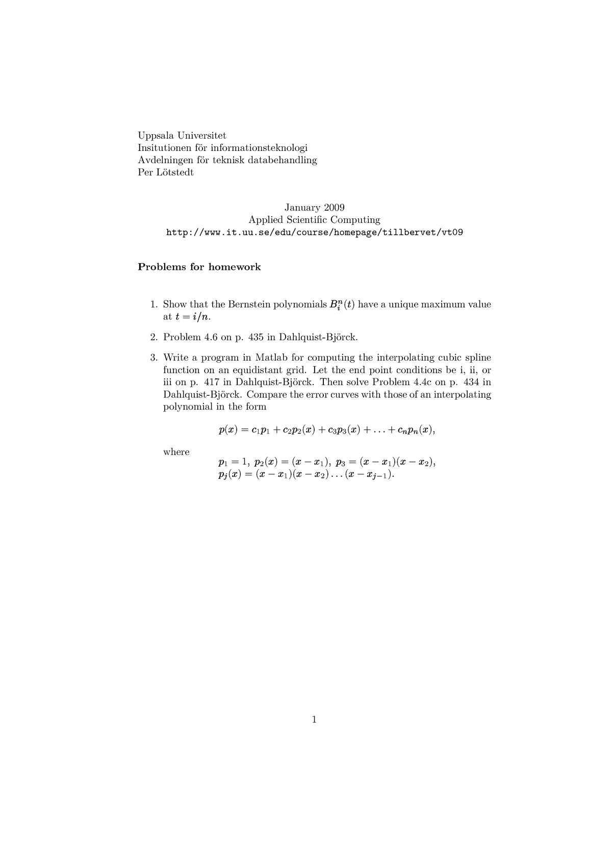 Home Work - Applied Scientific Computing - IRD248: Applied