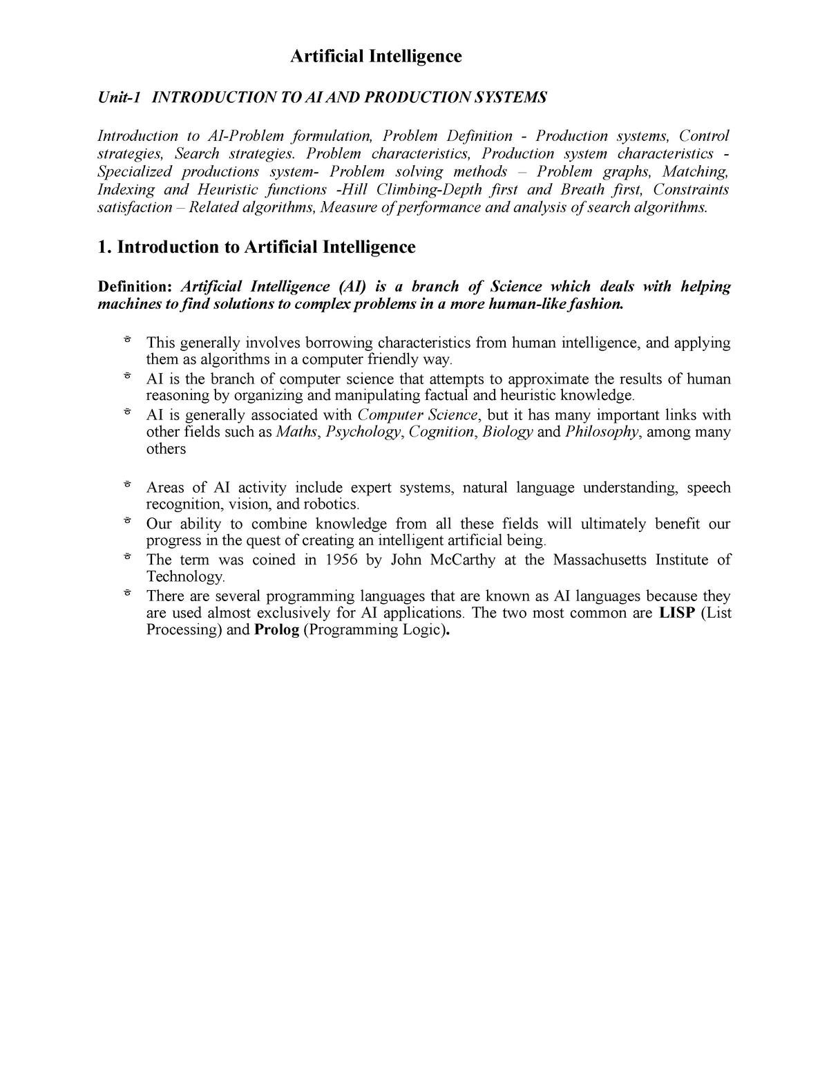 AI-Notes general - Operation management 50250 - StuDocu