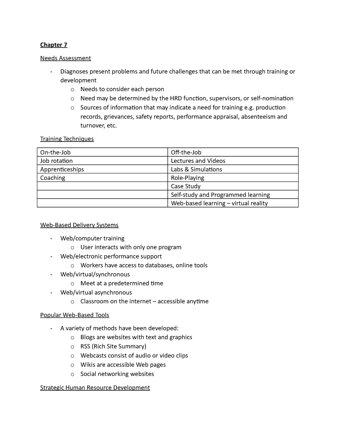 Lecture notes on Chapter 7 2 - Busi 4320: Human Resource