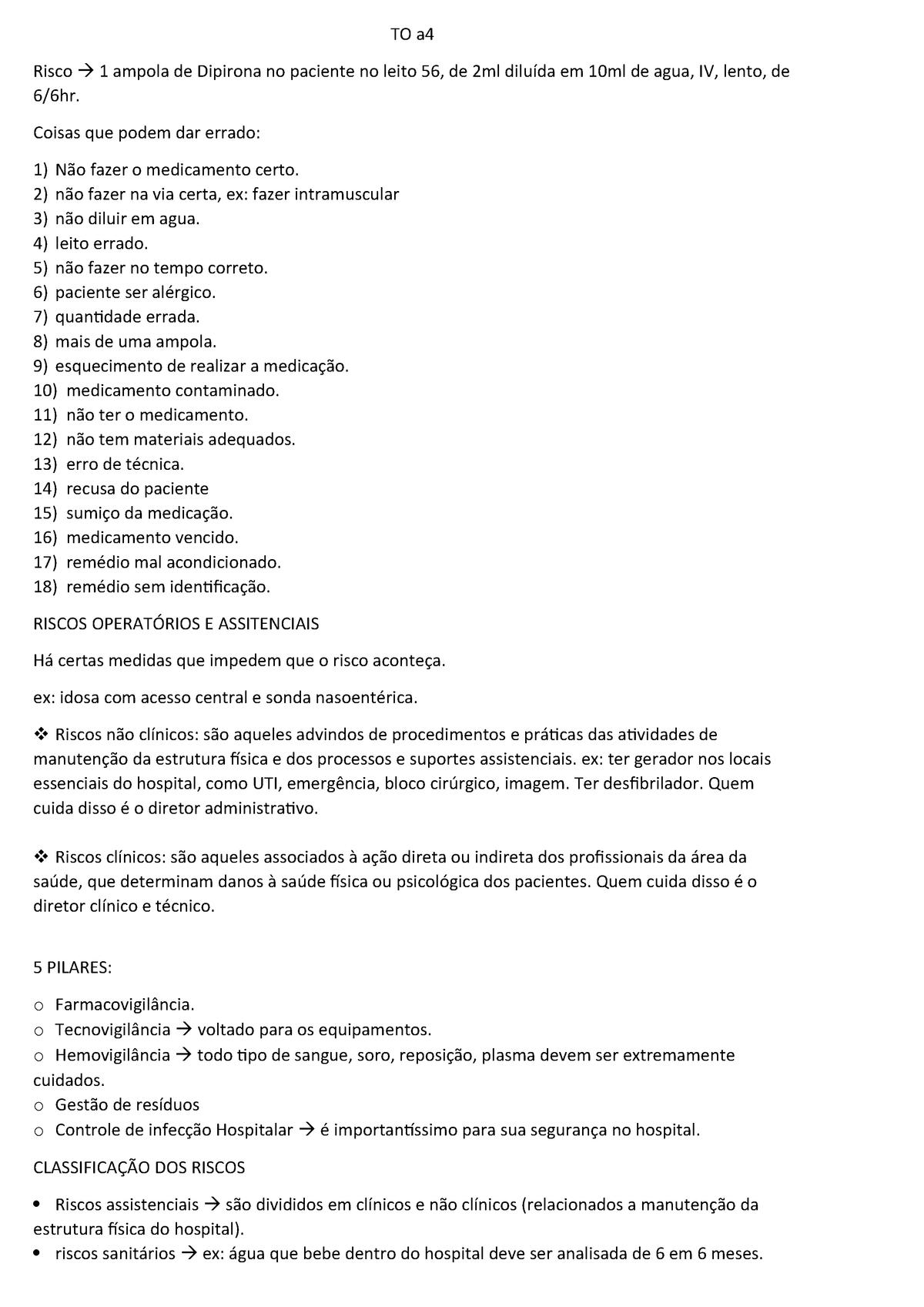 Transcrição Aula 4 Riscos Ufjf Técnica Cirúrgica Cir032