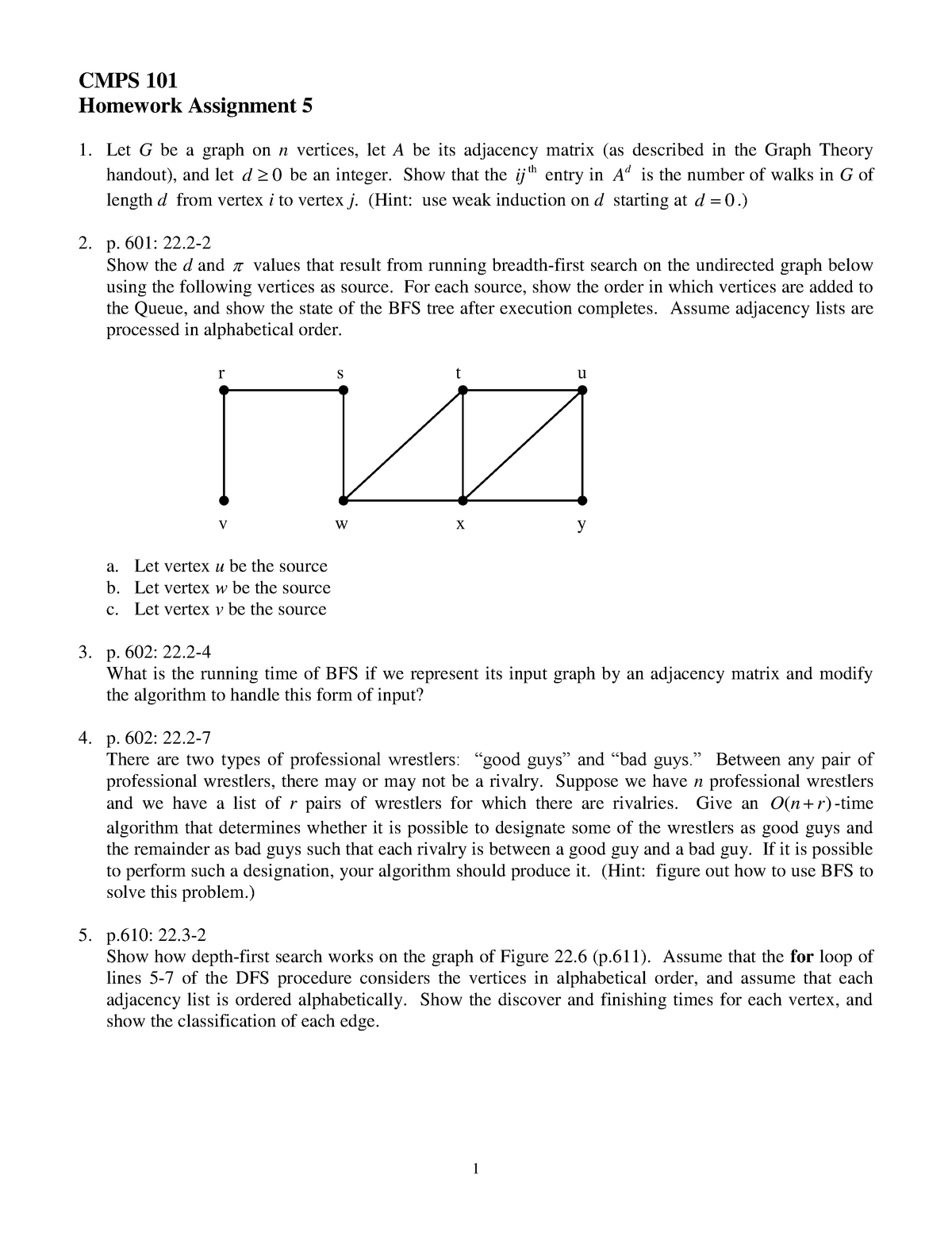 Hw5 - 5th homework assignment for CS 101 - CMPS 101: Abstract Data