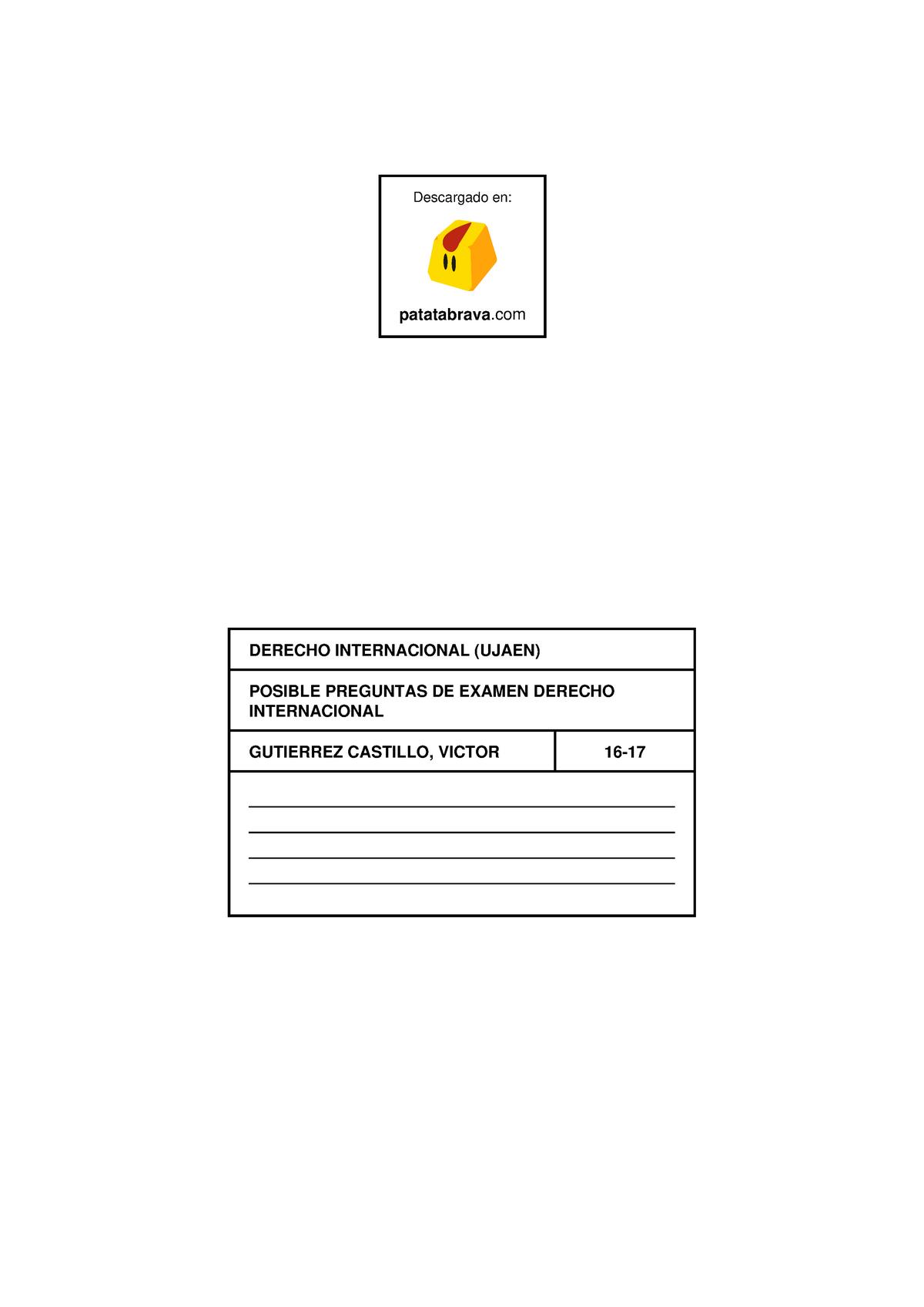Calendario Ujaen.Examen 2018 11212010 Derecho Internacional Publico Studocu