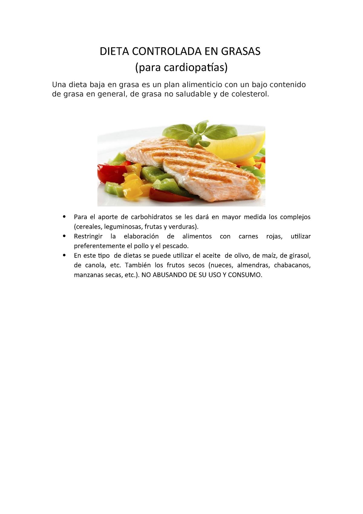 dieta hipograsa alimentos no permitidos
