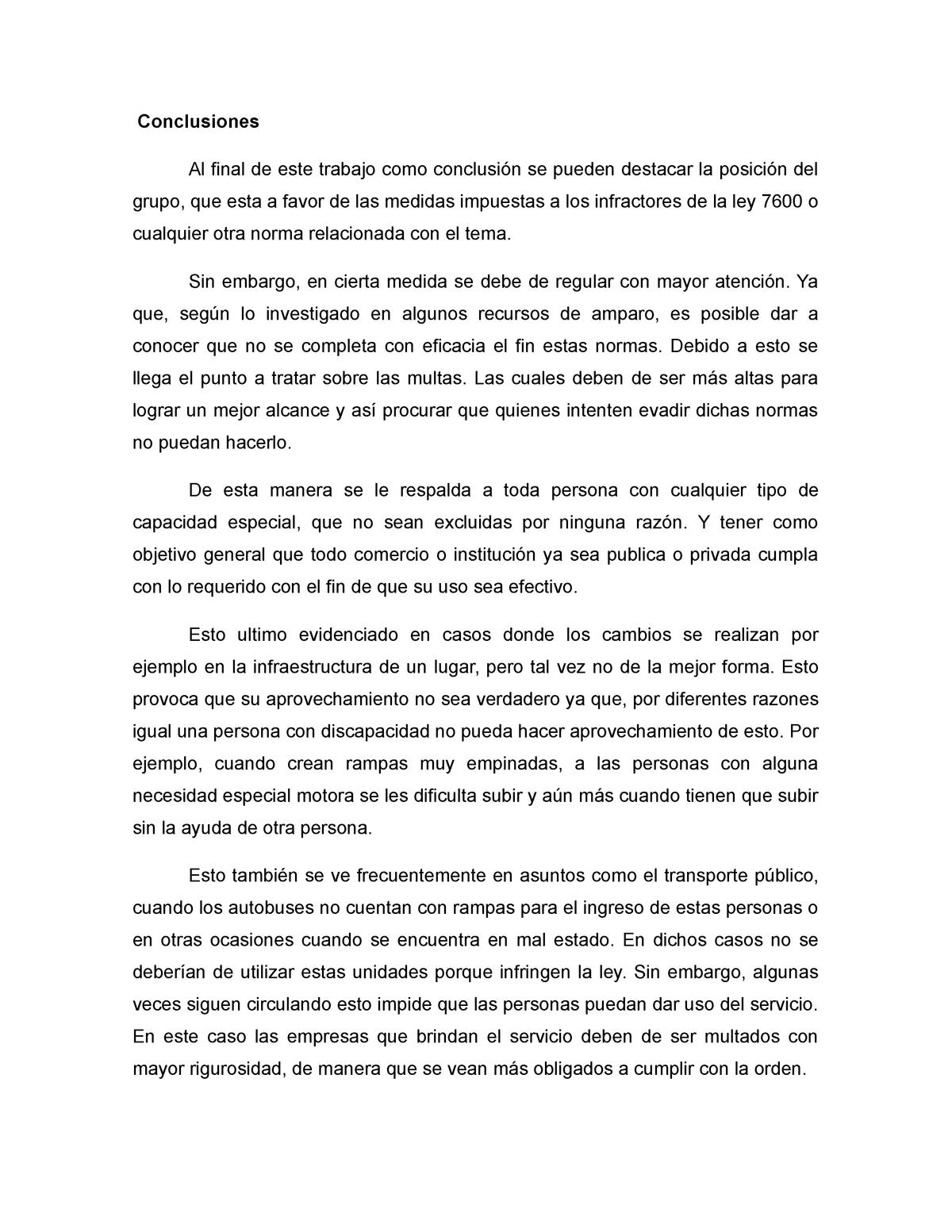 Conclusiones Derecho Romano La Libre Studocu