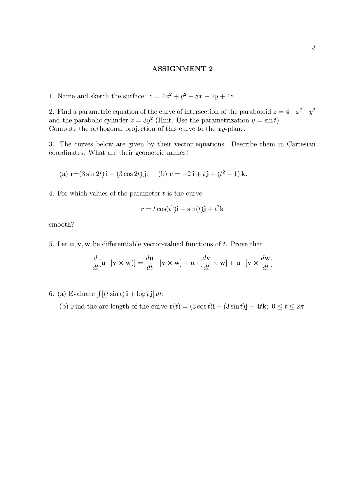 PMTH212 2012 Assignment 2 - PMTH212: Multivariable Calculus - StuDocu