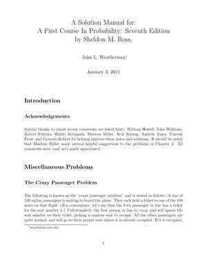 solution manual a first course in probability ross studocu rh studocu com probability path solution manual probability path solution manual