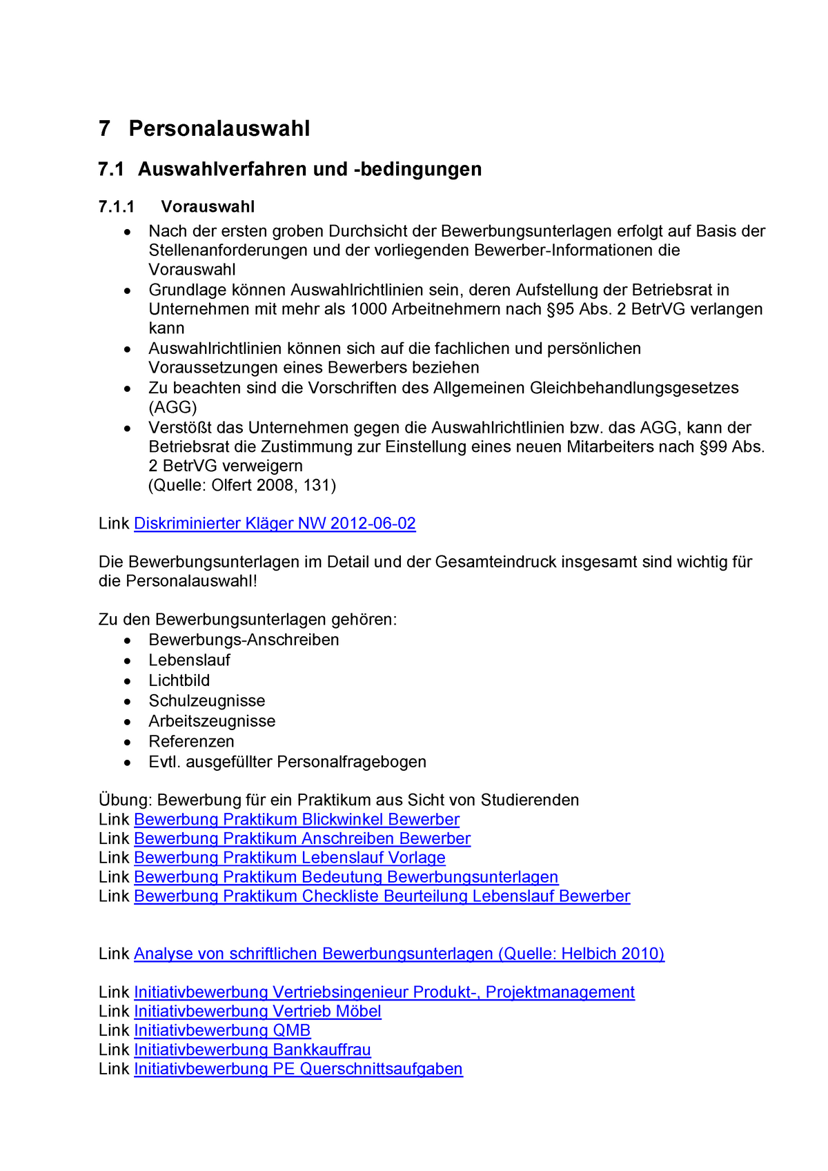 Bewerbungsunterlagen Verschiedene Bewerbungsschreiben