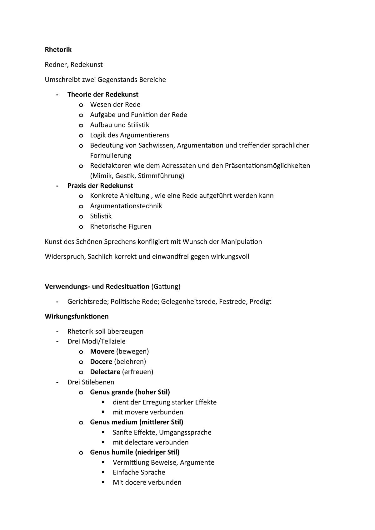 Aufbau einer rede