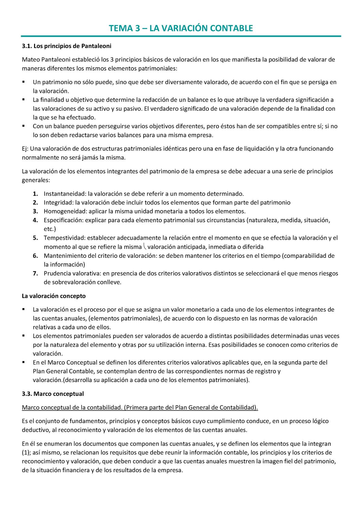 Tema 3 La Variación Contable Contabilidad I Ub Studocu