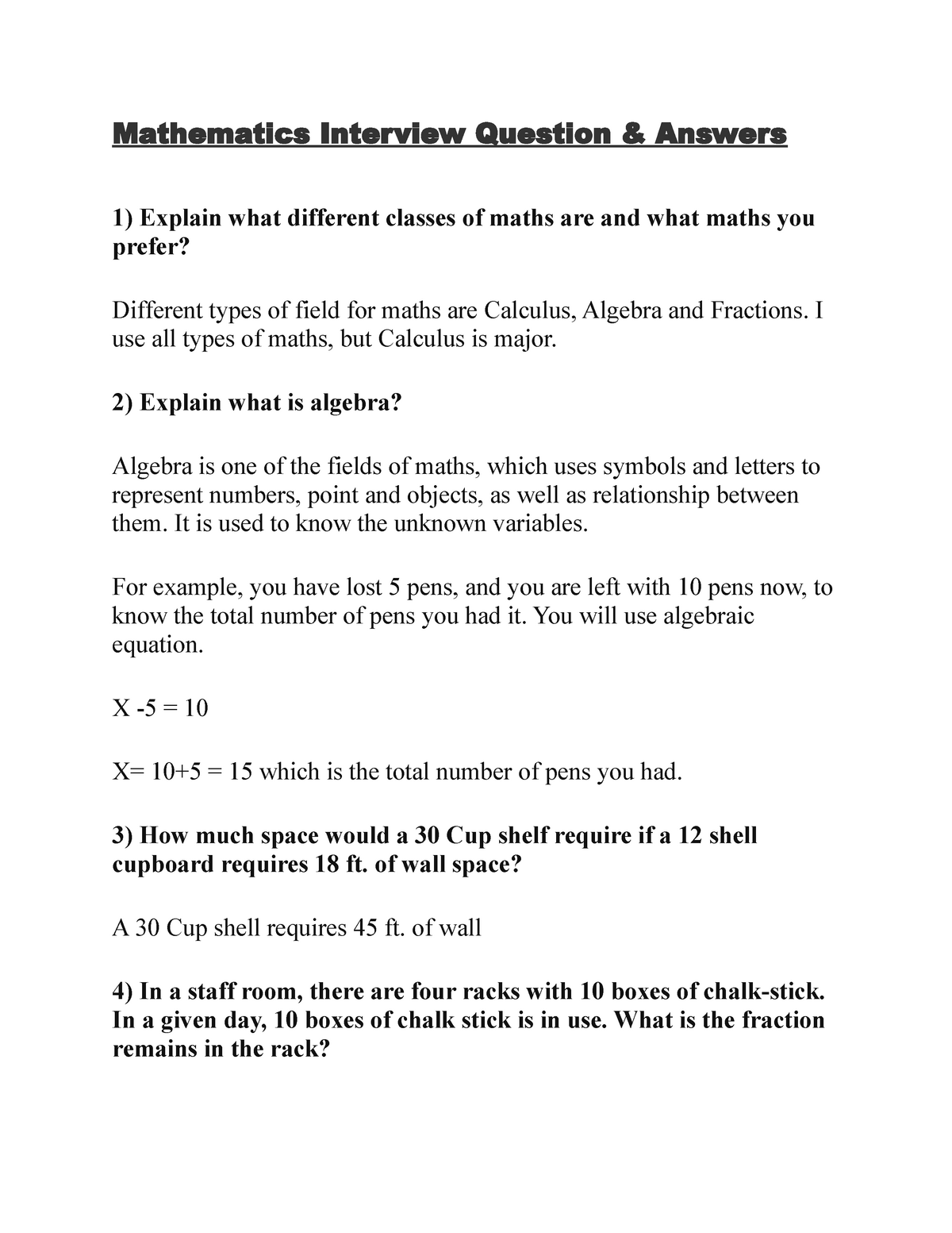Maths viva - Mathematics viva and assignment questions and