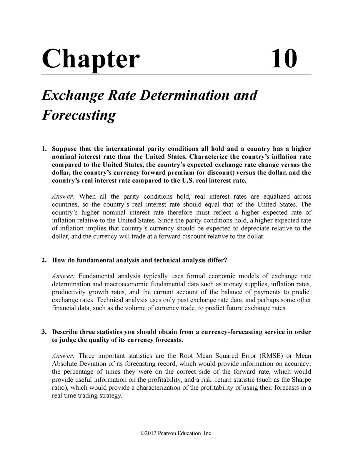 Tutorial Ch10 - Answers - FINS3616: International Business