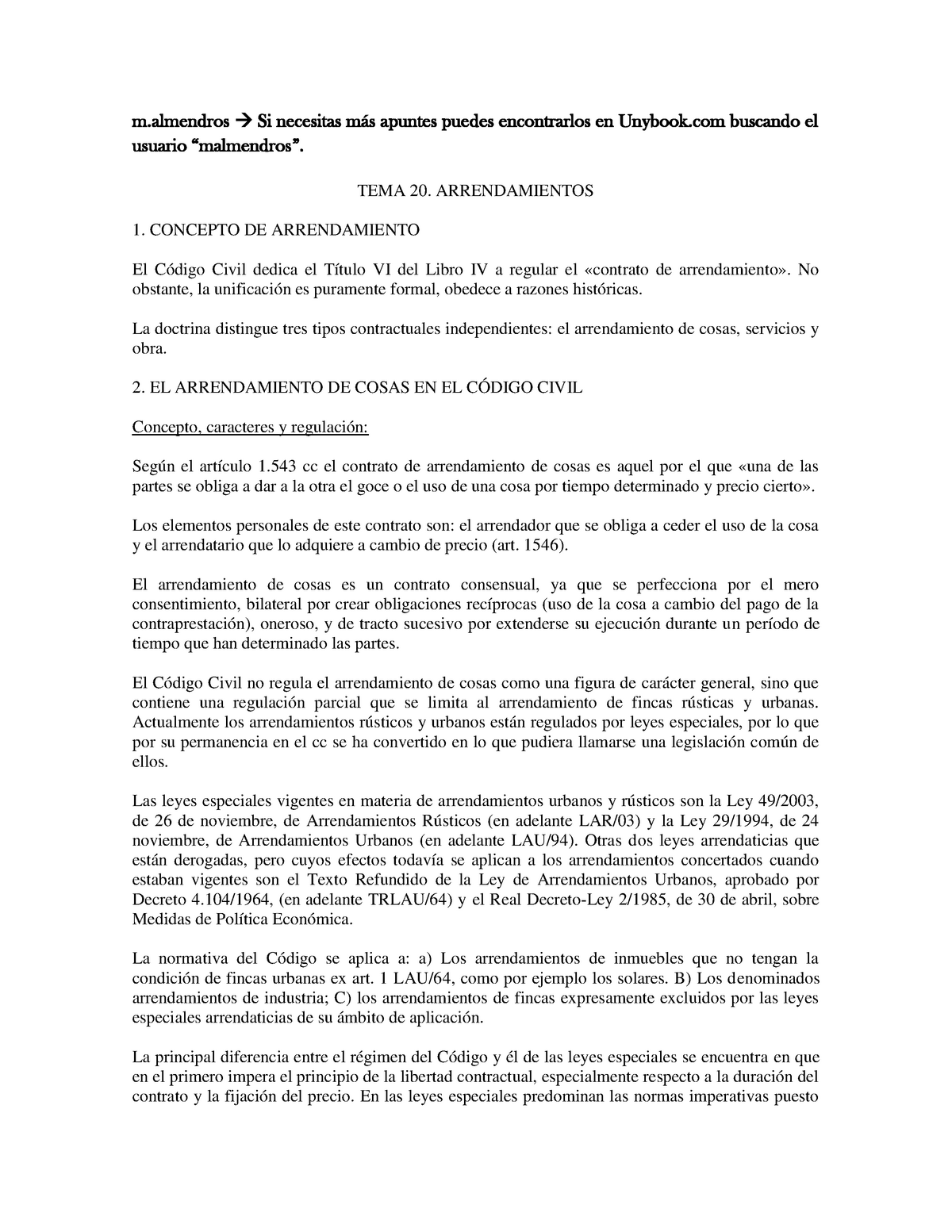 Tema 20 - Derecho Civil II - Obligaciones y Contratos - UJI ...
