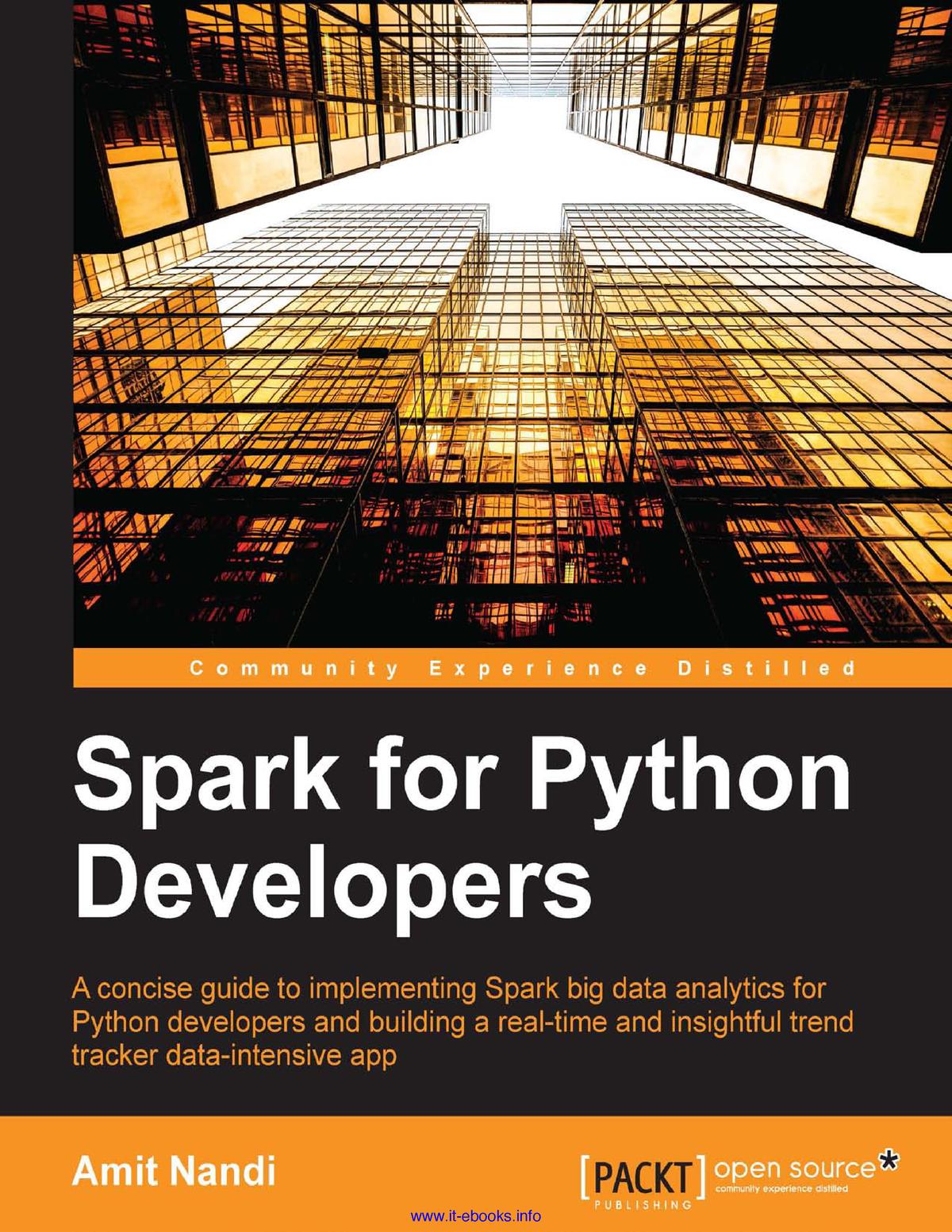 Spark for Python Developers - Engenhaia eletronica - StuDocu