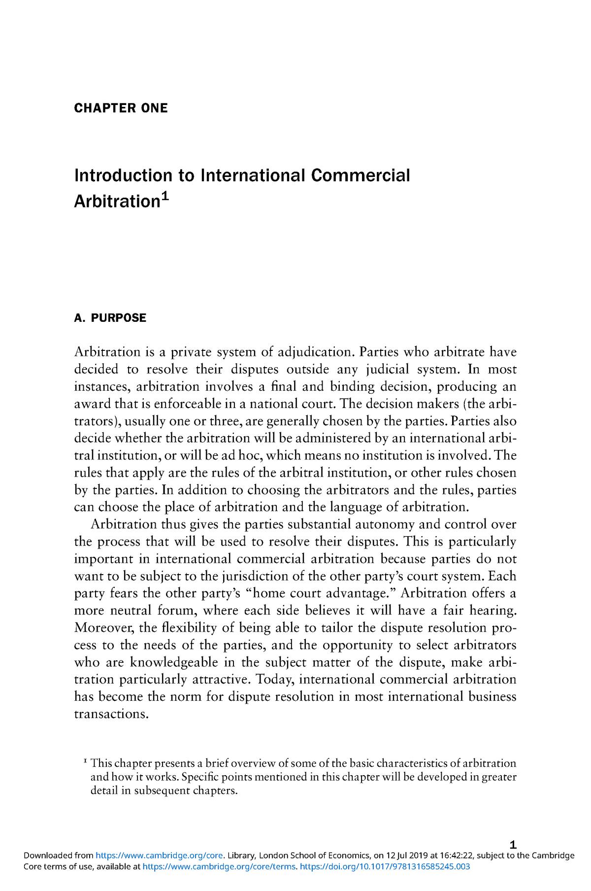 international commercial arbitration articles
