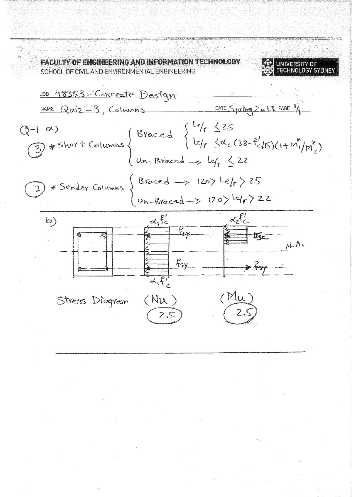Exam 2013 - 048353: Concrete Design - StuDocu