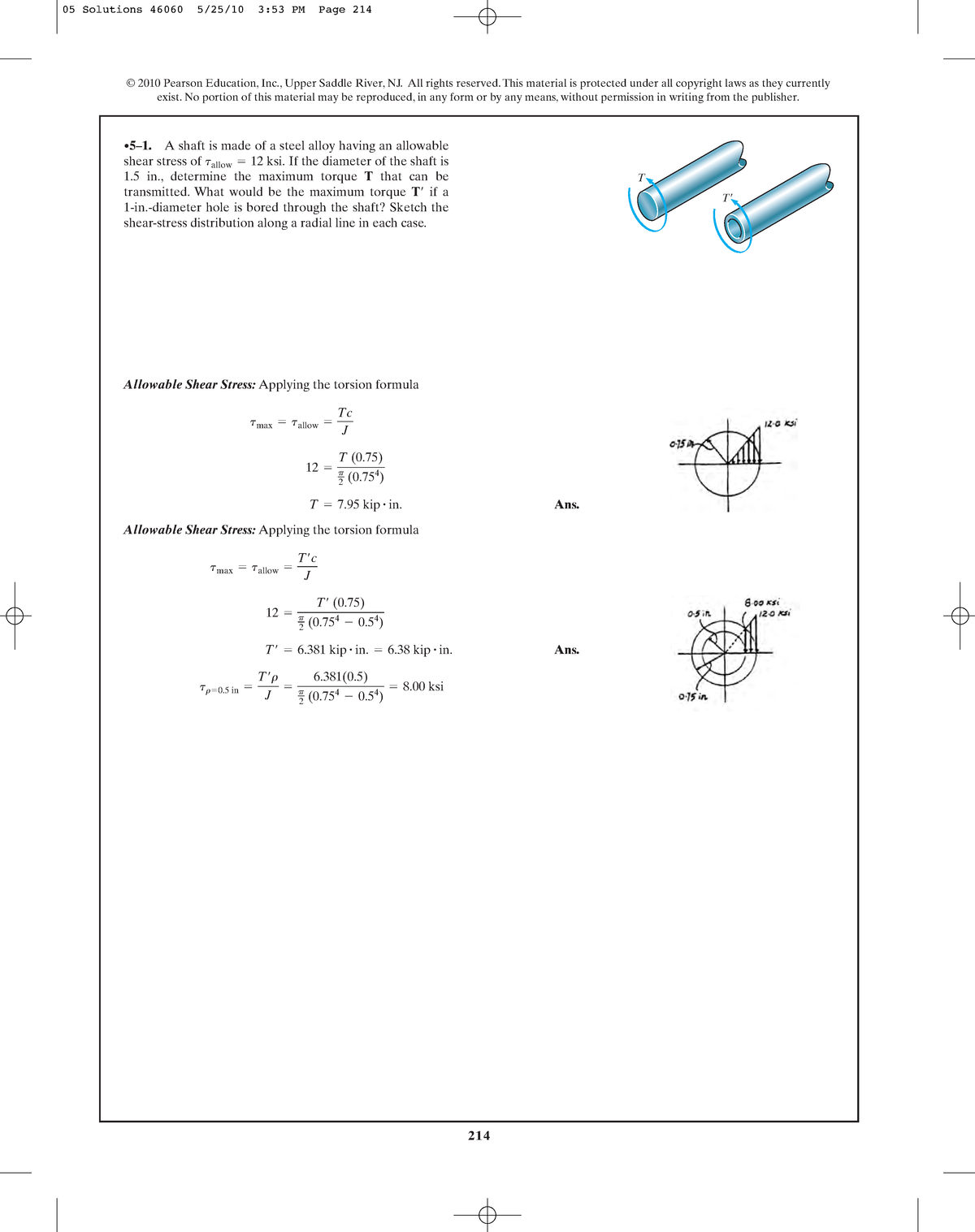 Chapter 05 - Solution manual Mechanics of Materials - MOM