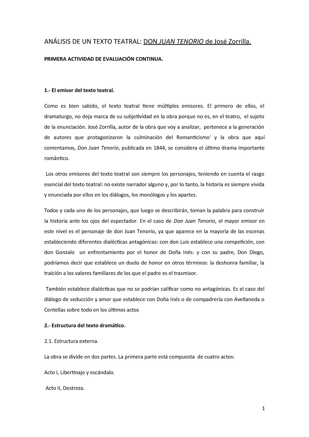 Pec An álisis De Un Texto Teatral 64014028 Uned Studocu