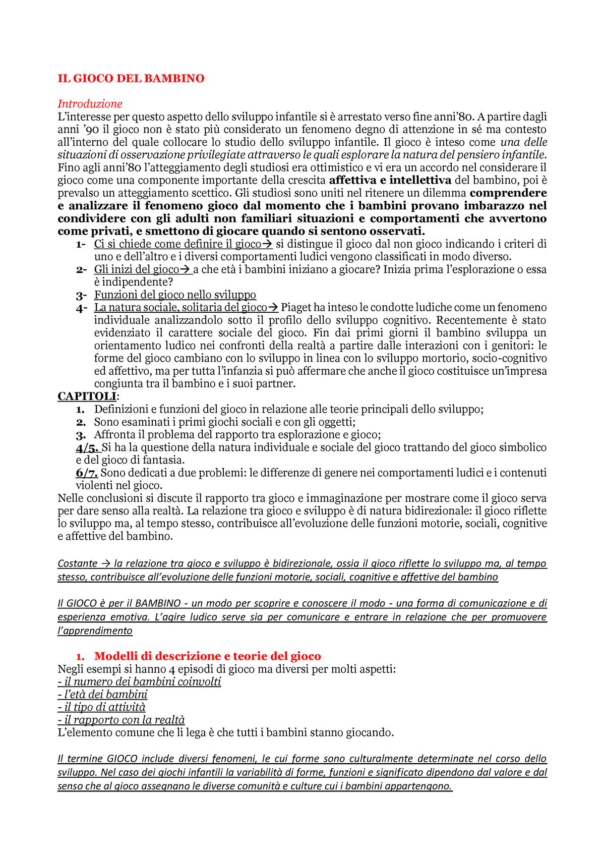 46c955370c Riassunto Il gioco dei bambini Baumgartner - M-PED/03 - StuDocu