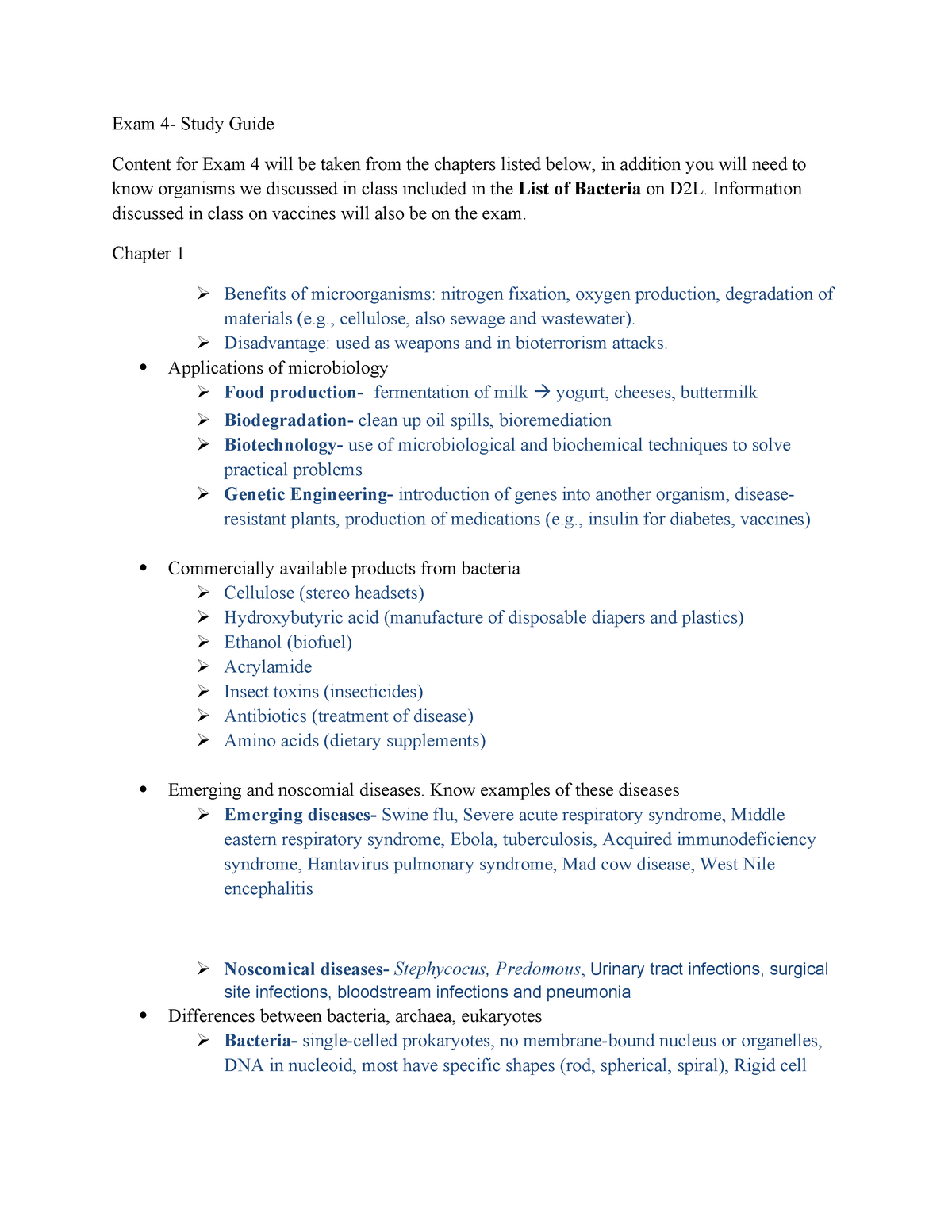 Exam 2016 - BIOL 2300: Microbiology & Public Health - StuDocu