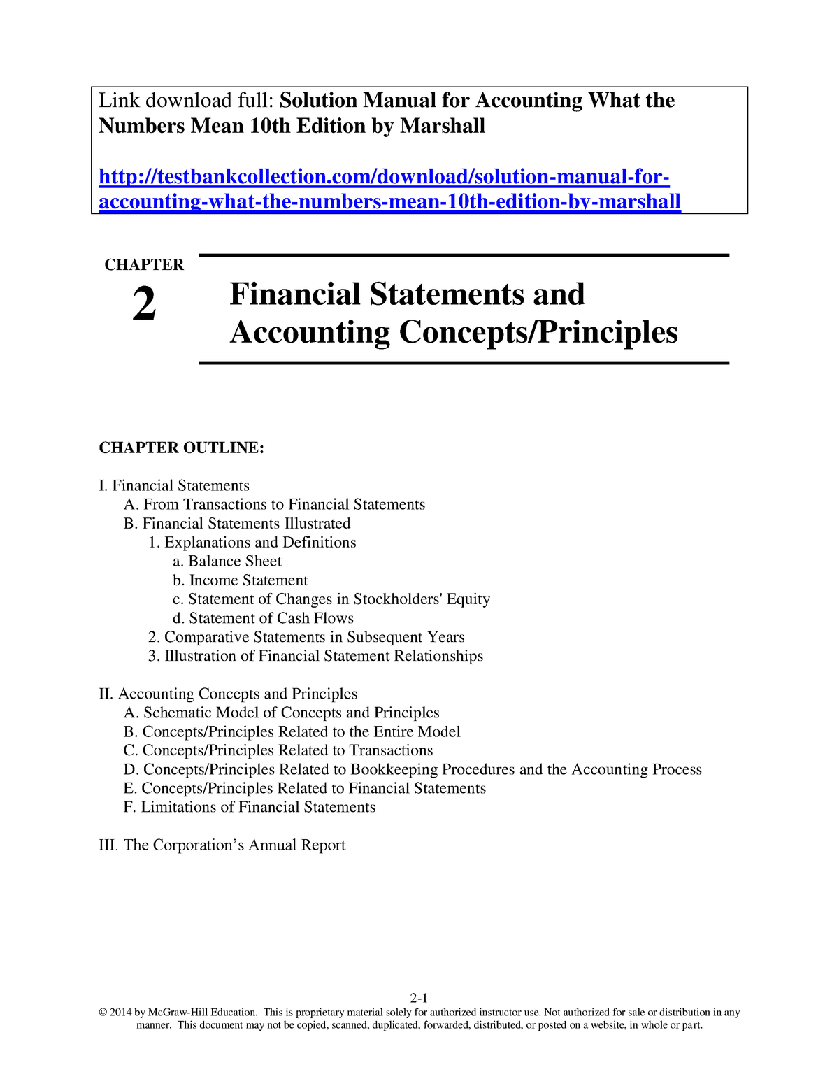 Solution Manual for Accounting What the Numbers Mean 10th