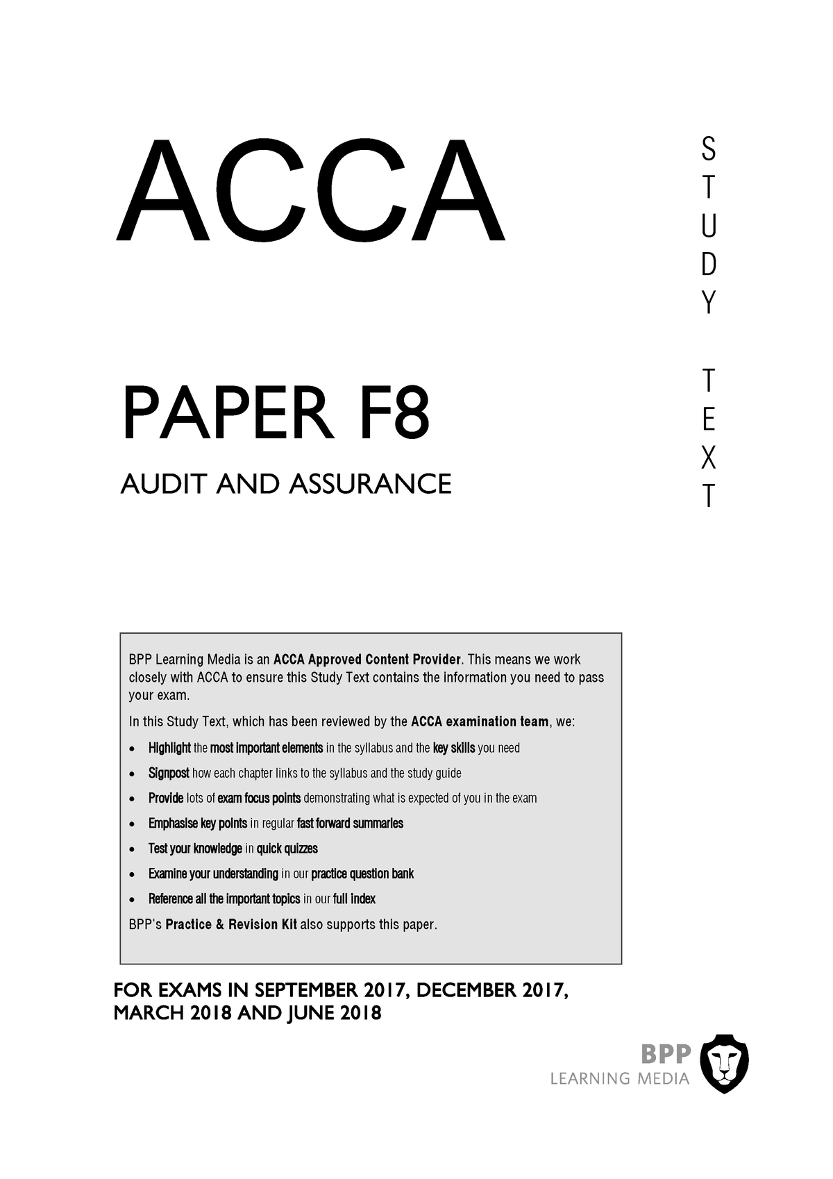 ACCA F8 BPP 2018 study text - MFC: Master For Finance And