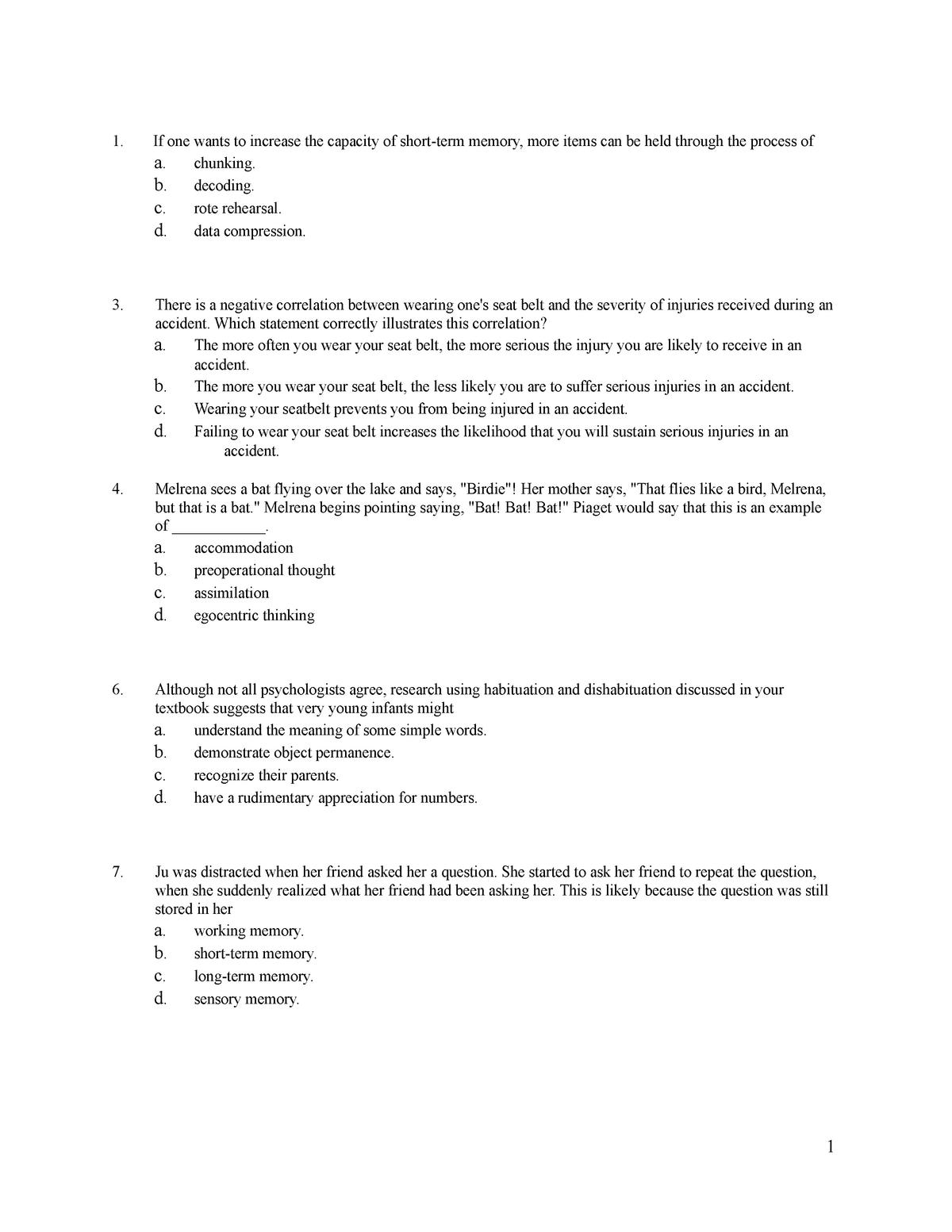 Psych 101 practice midterm - 200: HRM - StuDocu