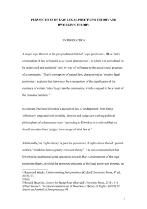 essay perspectives of law legal positivism theory and dworkin s  essay perspectives of law legal positivism theory and dworkin s theory 200649 jurisprudence studocu