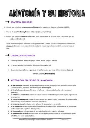 Apuntes Anatomía - 620G01002: Anatomía e cinesioloxía do movemento ...