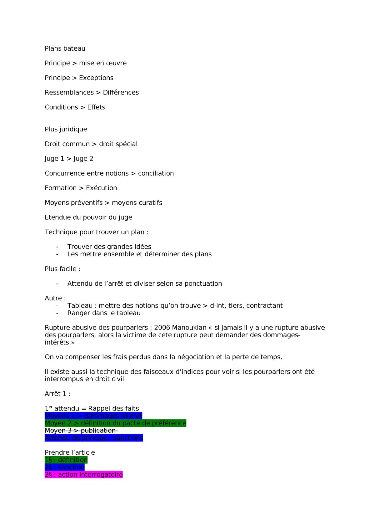 Droit Des Contras Seance 6 Studocu
