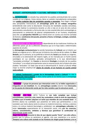 Resumen I. AntropologÍa-1º Criminología - Introducción A La ...