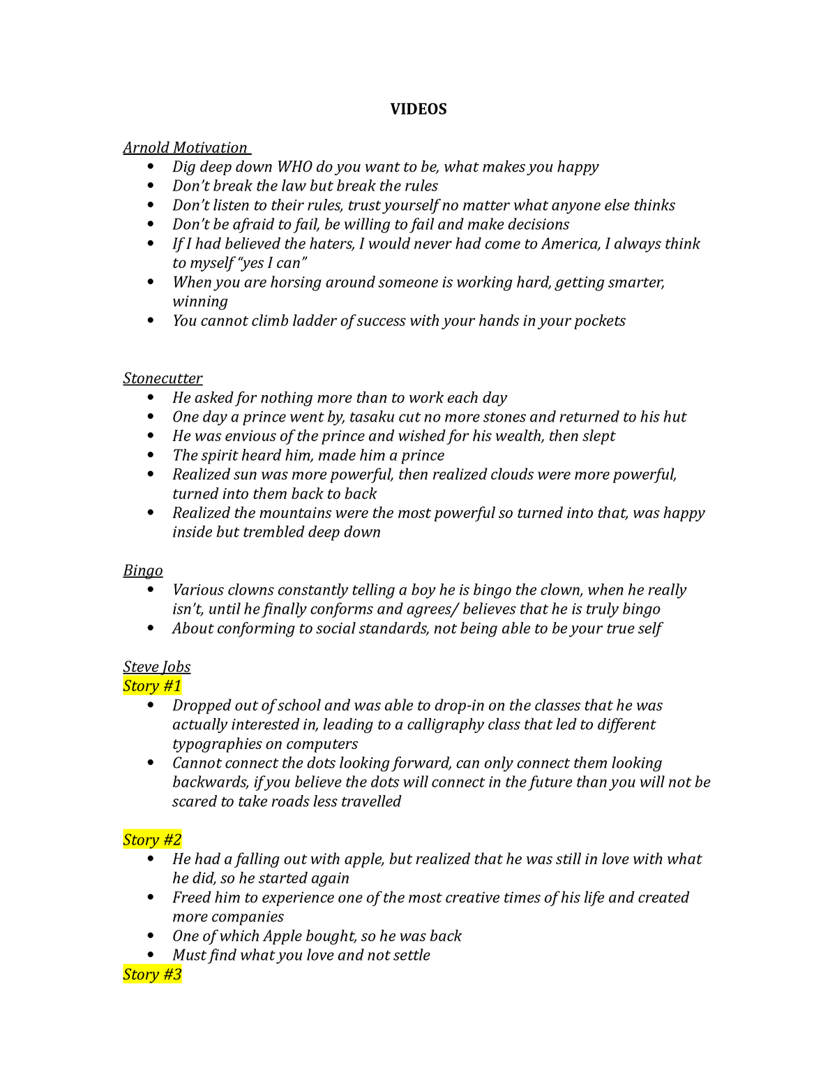 Lecture notes, lectures 8-14 - second half of the course