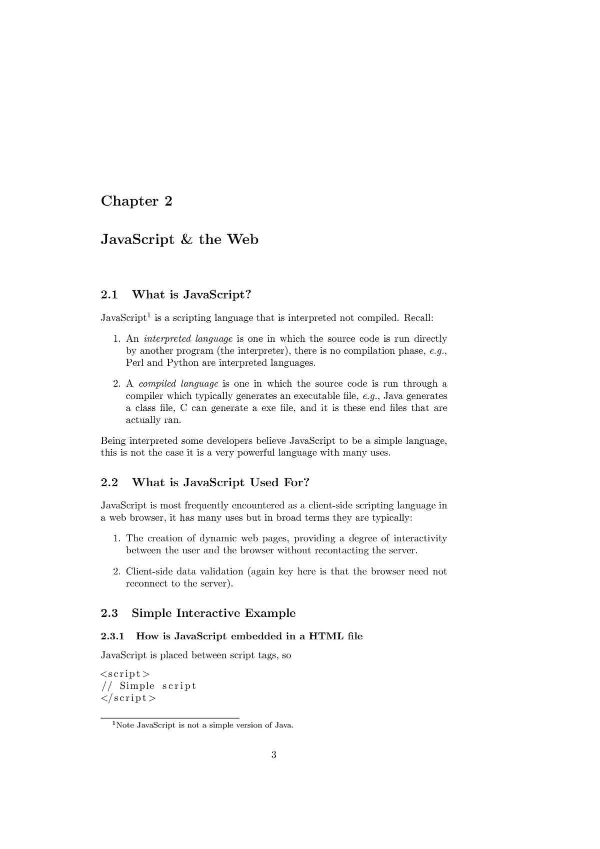 Javascript and the Web - 46103028: Web Application