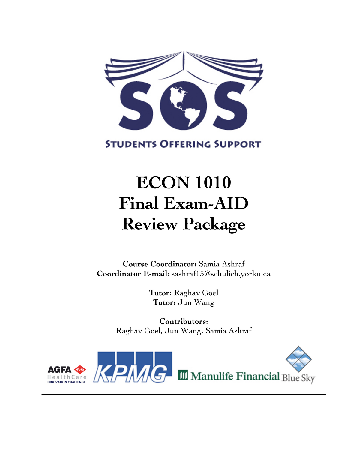 ECON 1010 Study Package ( Notes FROM 20-30) - Ap/Econ 1010