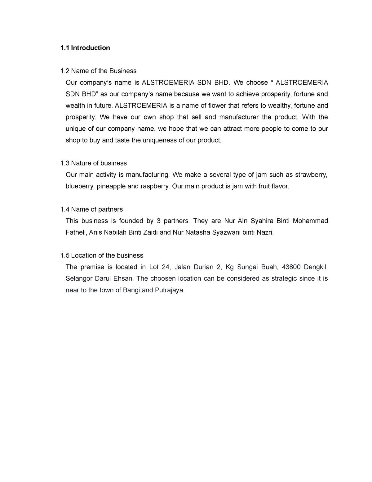 ENT300 - Business PLAN - GROUP ASSIGNMENT - StuDocu