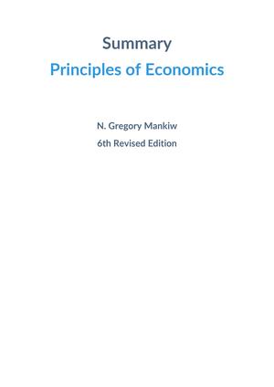 Summary Principles Of Economics 02 Feb 2017 Studocu