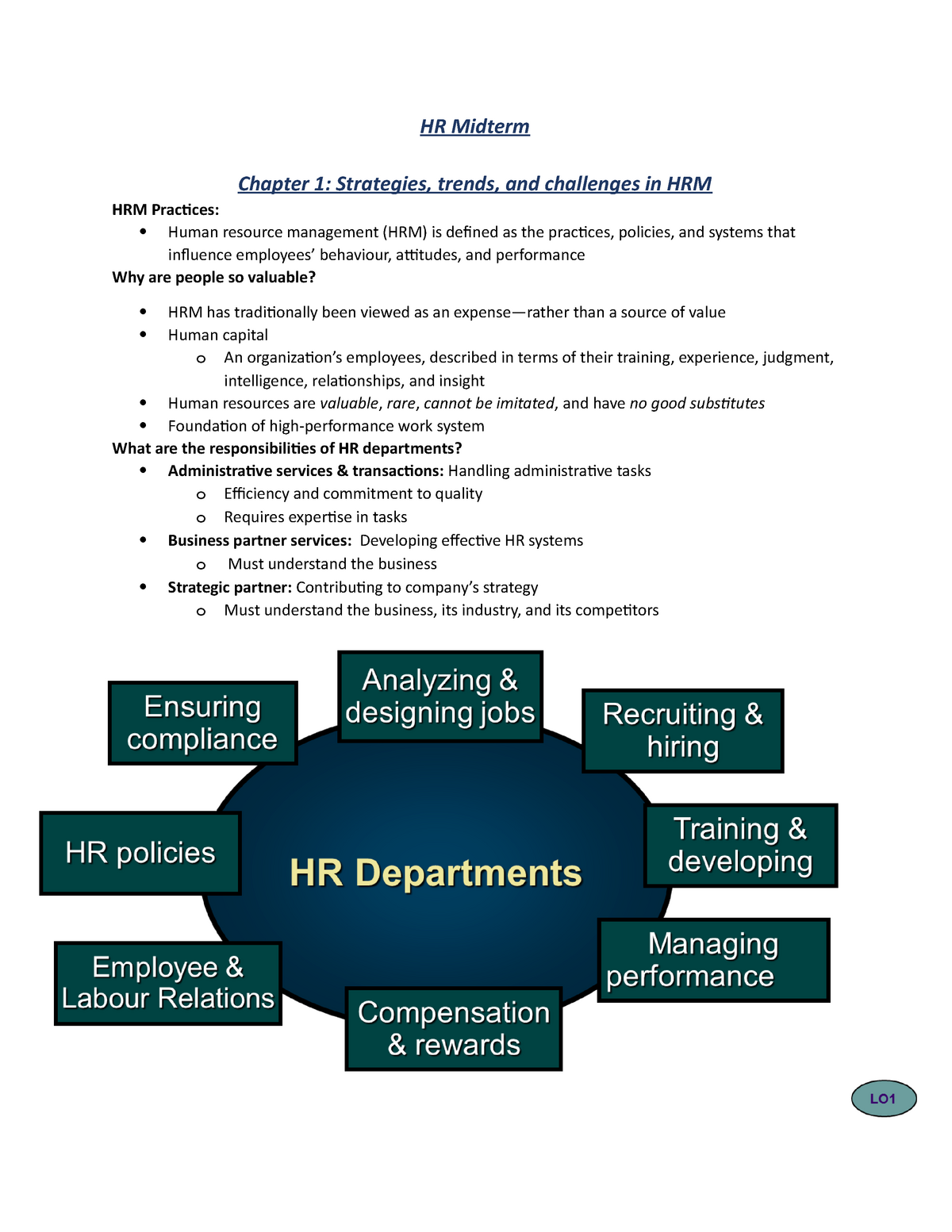 Summary Textbook For Introduction To Human Resources Chapter 1 5 Studocu