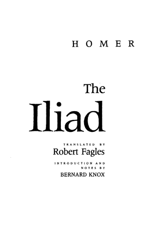 Homer The Iliad Penguin Classics Deluxe Edition Hum111 Humanity
