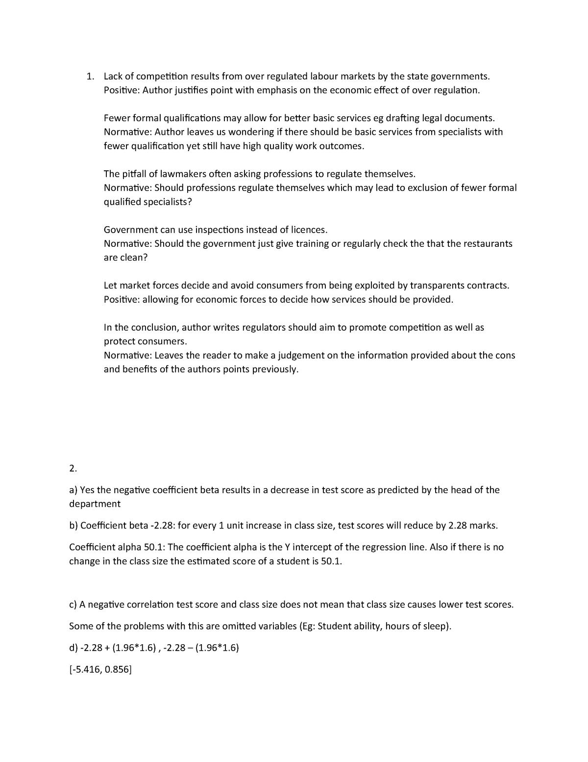 Problem set 1 - Chapter 1 questions - ECC3710 - Monash - StuDocu