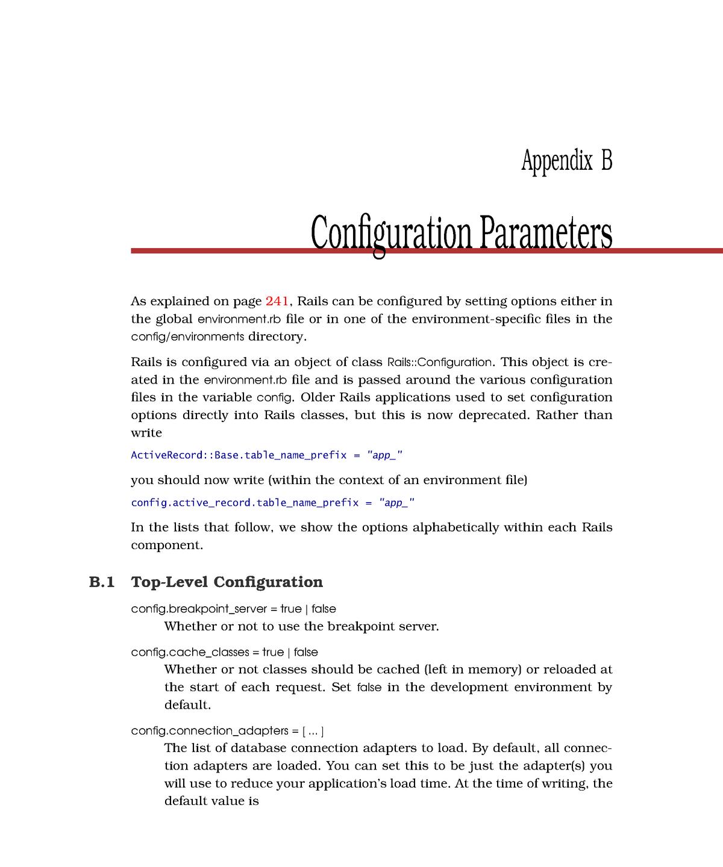 Appendix B - Configuration Parameters - EDA397: Agile