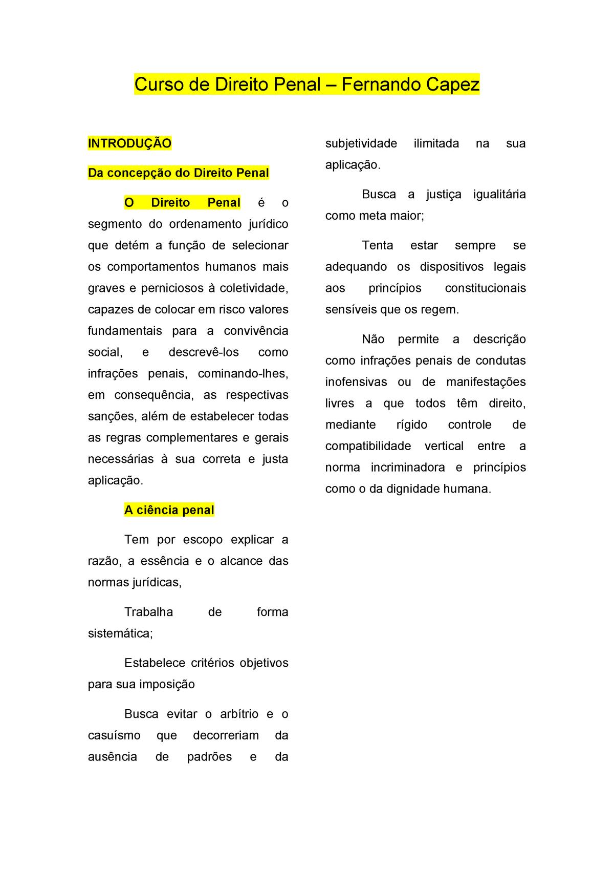 BAIXAR DIREITO CAPEZ FERNANDO LIVRO O PENAL