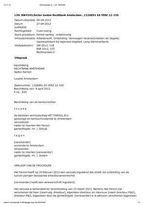 voorbeeldbrief schikking Overige, Juridische Vaardigheden M3.2, Voorbeeld Vonnis  voorbeeldbrief schikking