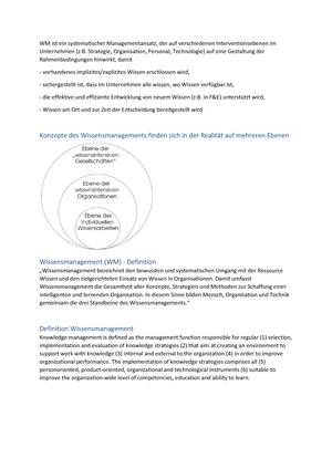 Wissensmanagement - Zusammenfassung der Vorlesungen SS2017 ...