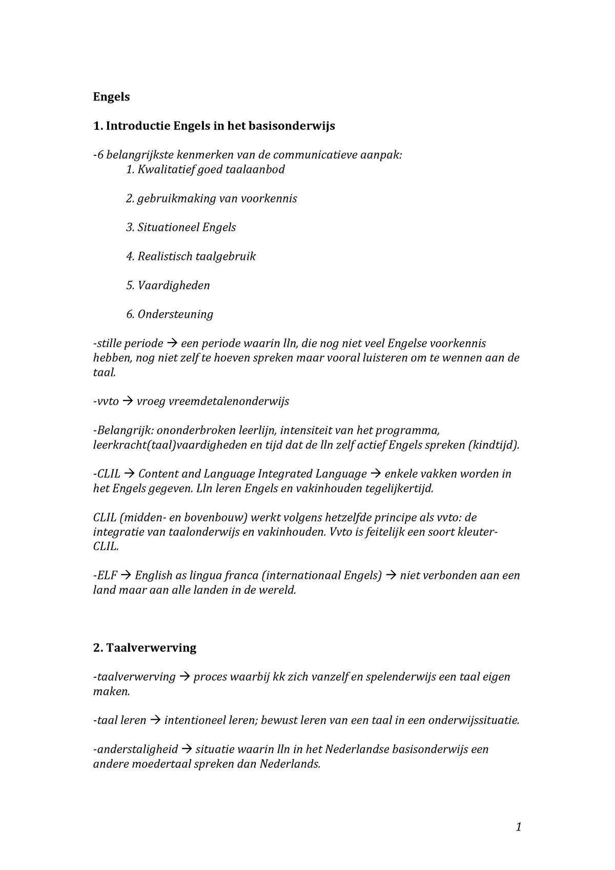 Kenmerken In Het Engels.Samenvatting Engels 13115ledwz Inholland Studeersnel