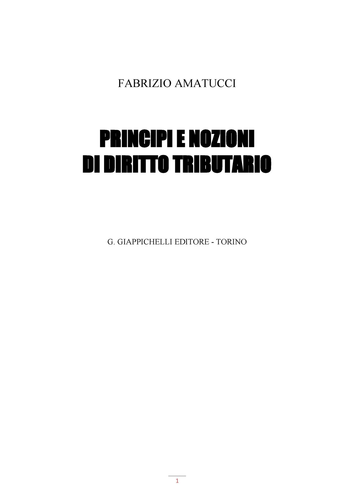 ef35d712a8f4 Fabrizio Amatucci - Principi e nozioni di diritto tributario - StuDocu