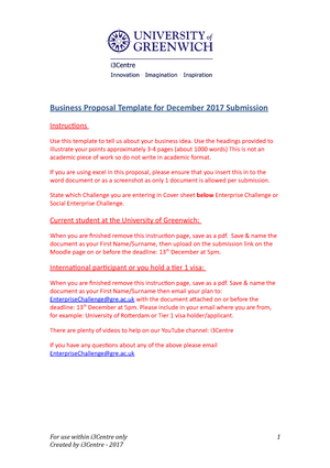 One Page Proposal Enterprise Challenge Business Proposal Template