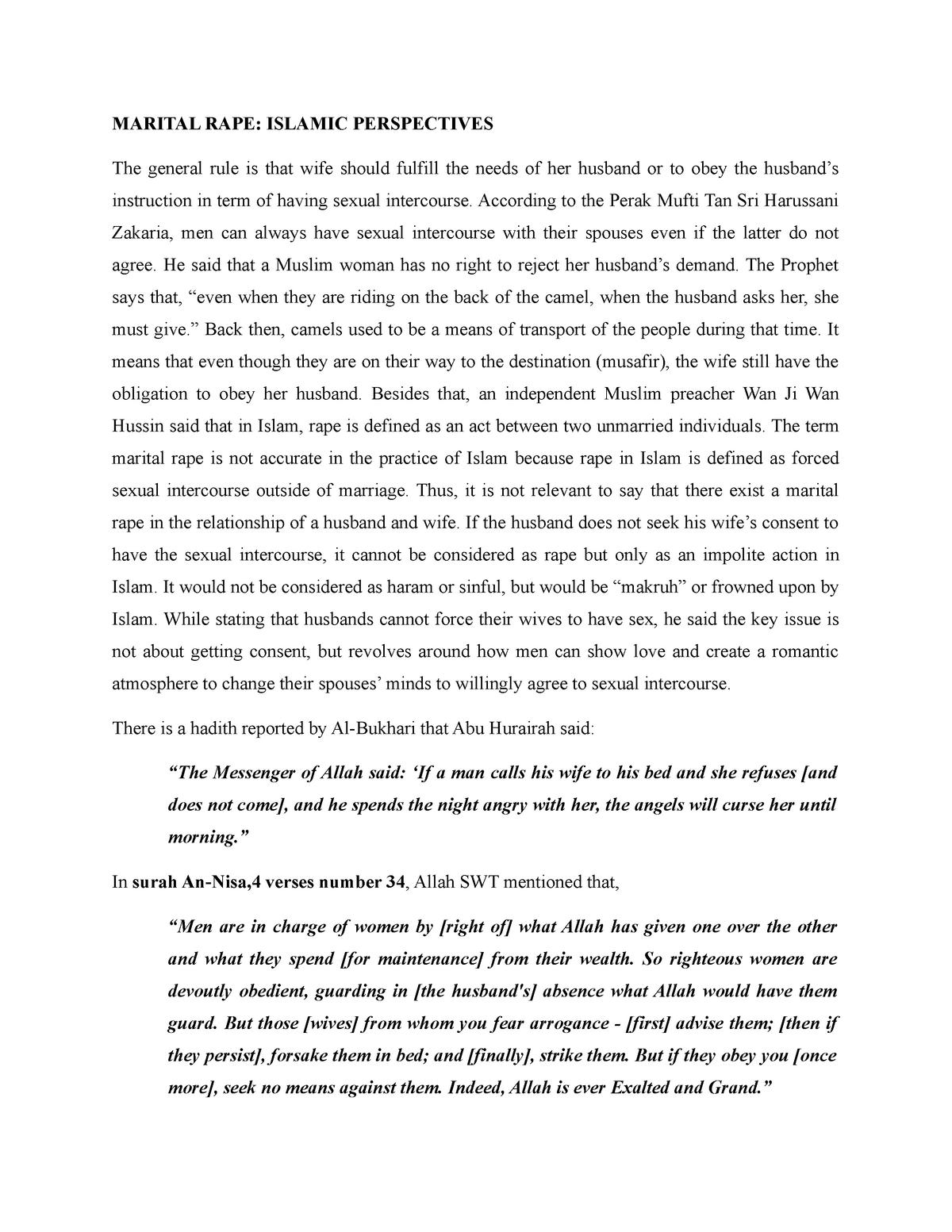law of morality: marital rape - LAW224: Law - StuDocu